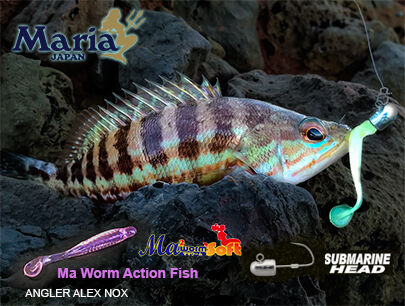 ma worm Action fish glow submarine jig head