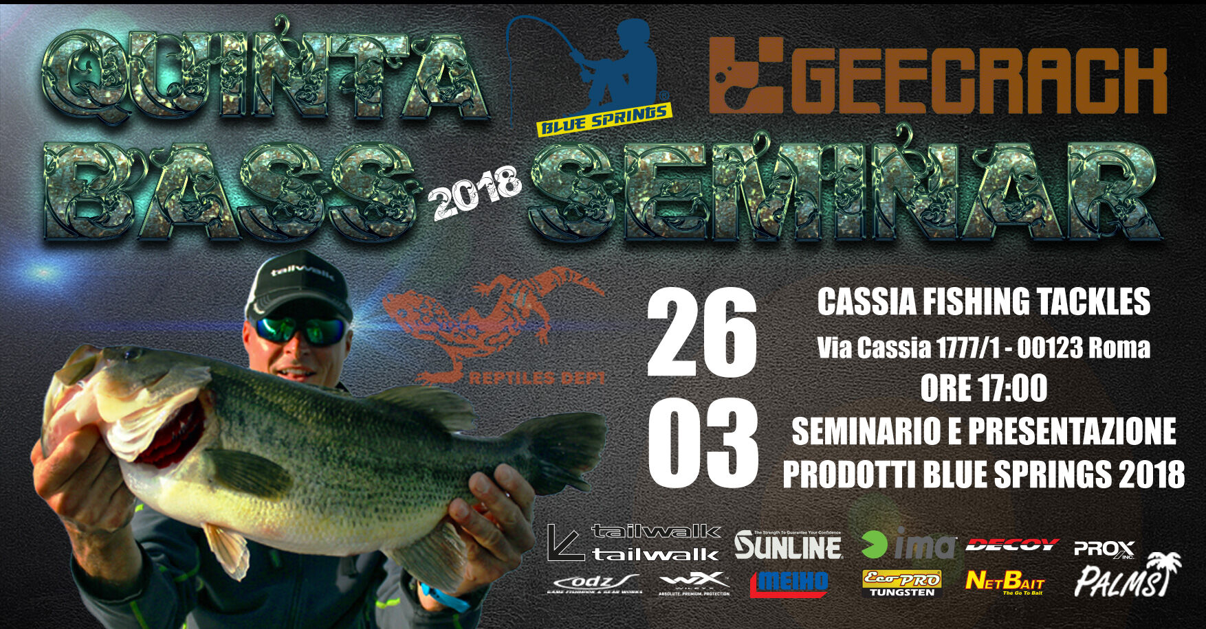 Cassia Fishing Tackle bass seminar 18
